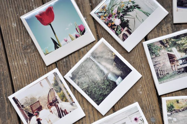 Créer un dessous de verre Polaroid
