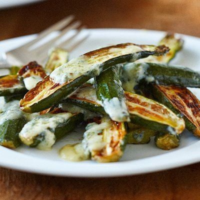Baby Zucchini with Blue Cheese