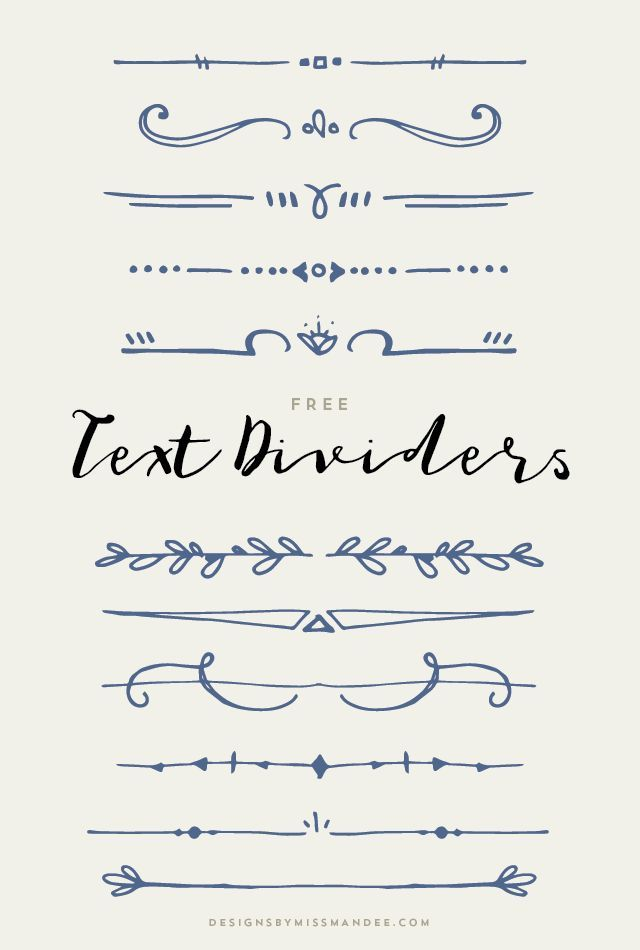 Text Dividers – Ale Brock