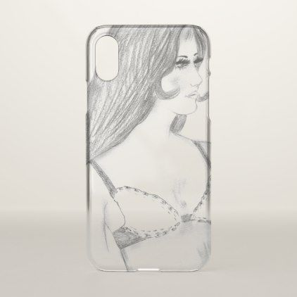 Retro 70s Girl in Bikini Top iPhone X Case - summer gifts season diy template ideas