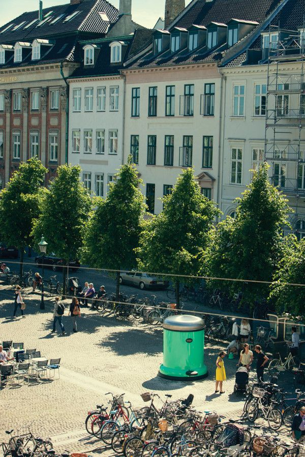 A Giant Vipp Bin To Keep Copenhagen Green: Large Vipp, Copenhagen Green, Giant Vipp, Green Copenhagen, Vipp Bins, Green Photos, Smart Ideas, Travel Ideas, Vipp Mega Bins 1C