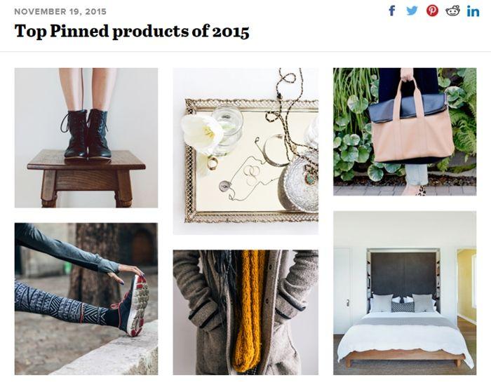 สุดยอดสินค้าบน Pinterest ประจำปี 2015