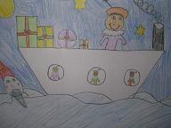 Kennen jullie het boek van het verdwenen Pietje? In dit boek zinkt de stoomboot! Maak een tekening van Sinterklaas die in het water ligt. Je kunt zelf verzinnen of de hele boot al is gezonken en alles en iedereen al in het water ligt of dat het nog maar net gebeurt en de boot nog …