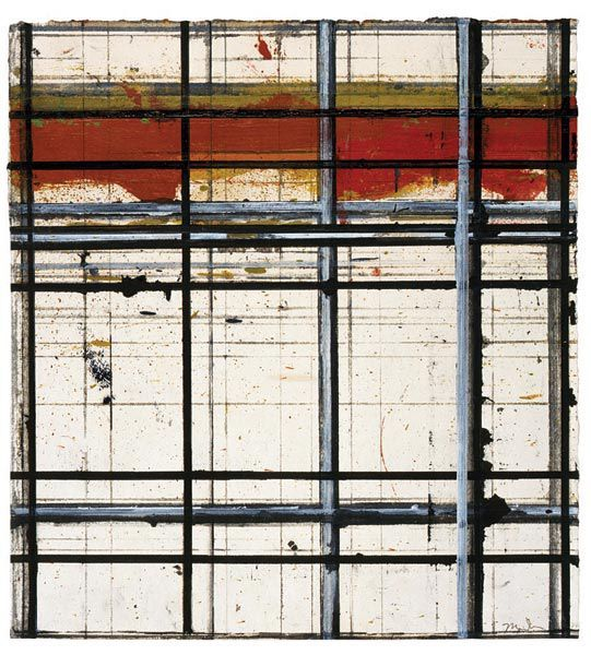 Brice Marden Red Drawing # 1, 1984. Oil, ink, gouache and graphite on paper, 30.5 x 27.9 cm.