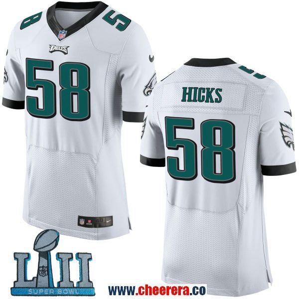 sale retailer 2c90b 01d7a Nike Men's NFL Philadelphia Eagles 58 Jordan Hicks White ...