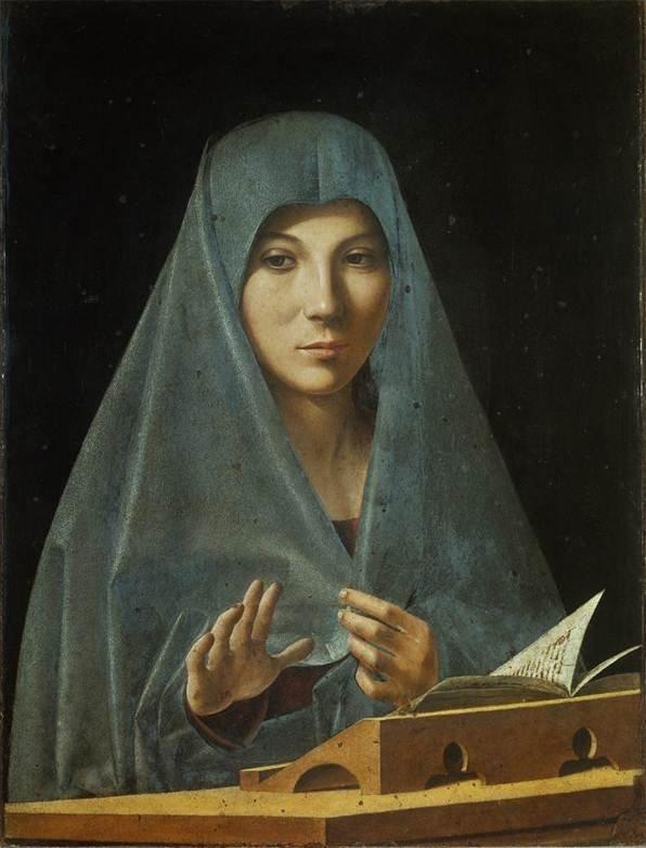 Explore this interactive image: Antonello da Messina, Annunciate Virgin by Sharon