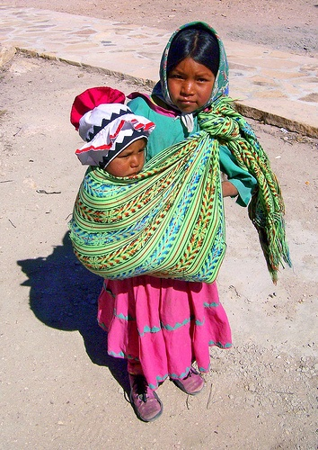 Sierra Tarahumara All children are beautiful but we especially enjoy the Mexican children wearing traditional clothing - for more of Mexico visit www.mainlymexican... #Mexico #Mexican #children #beauty