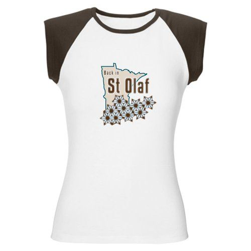 St Olaf Golden Girls Funny Womens Cap Sleeve T-Shirt by CafePress - L Brown/White