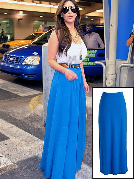 new lookfor this spring: full length skirts!