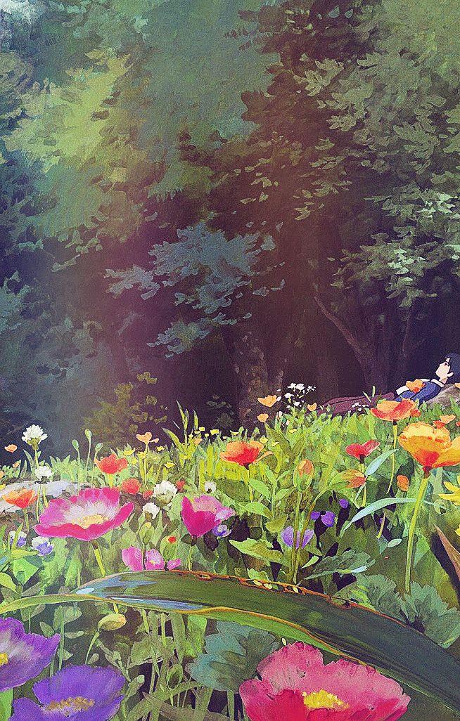 Ghibli Scenery iPhone backgrounds I sometimes forget on how beautiful scenery, Studio Ghibli create