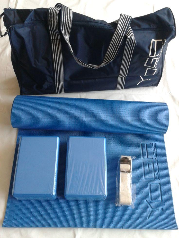 kit Yoga&welnness materassino memory blocchi cinghia borsa