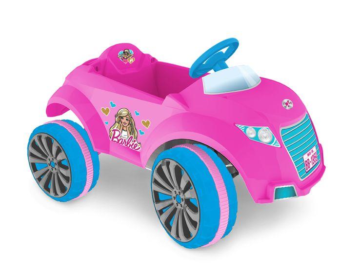 2259.8 - Carrinho XRover Elétrico 6v Barbie | Com marcha ré, rodas esportivas, banda de rodagem emborrachada, direção com textura antiderrapante e cinto de segurança. | Faixa Etária: +2 anos | Medidas: 93 x 65 x 53,5 cm | Elétricos | Xalingo Brinquedos | Crianças
