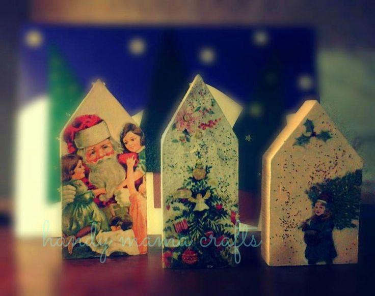 Χριστουγεννιάτικα ξύλινα σπιτάκια...