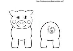 Coloriage cochon pour rouleau de papier wc