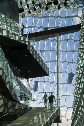 The Harpa Concert Hall and Conference Center in Reykjavik