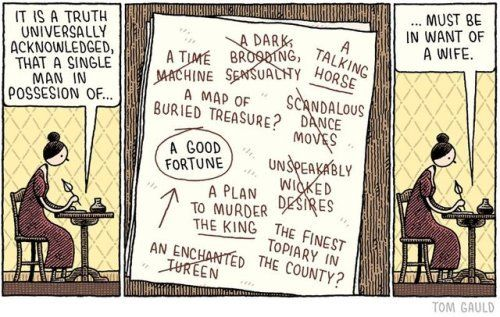 Goodreads | Tom Gauld's Blog - For the Guardian Review.Pre-order my new book 'Baking with... - July 26, 2017  Jane Austen writes Pride and Prejudice