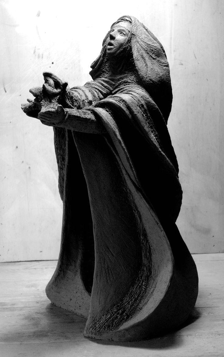 """""""SANTA CATERINA DA SIENA"""" Terracotta - Opera realizzata per il Museo Cateriniano D'Arte Contemporanea di Castiglione d'Orcia (SI) - 2007"""