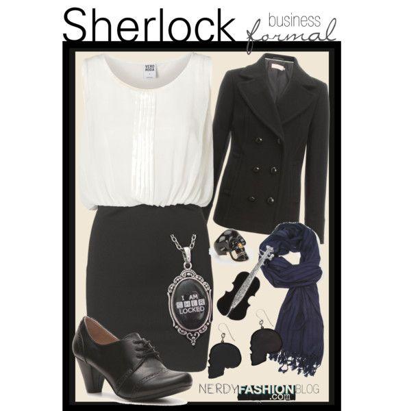 Sherlock   BBC Sherlock (Business - Formal) by chelsealauren10, via Polyvore