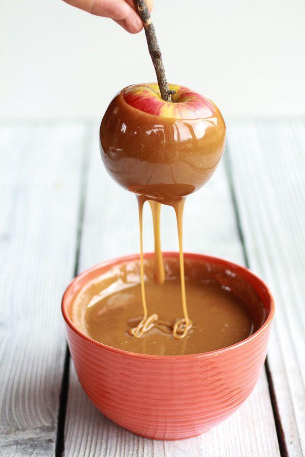 Sweet & Salty Bourbon Cinnamon Pecan Caramel Apples + Chocolate Drizzle | halfbakedharvest