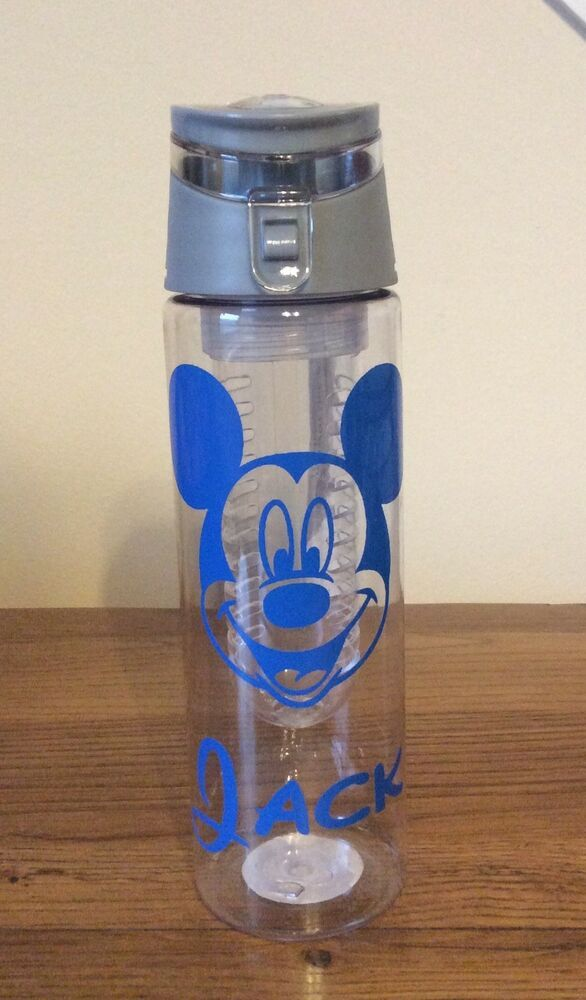 f9e91b0d5e Details about Mickey Mouse Water Bottle .....Can Be personalised ...