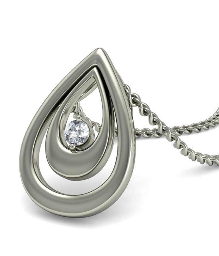 18kt Gold pendant with diamond