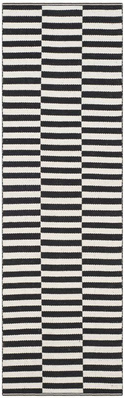 Orwell Hand-Woven Cotton Ivory/Black Area Rug