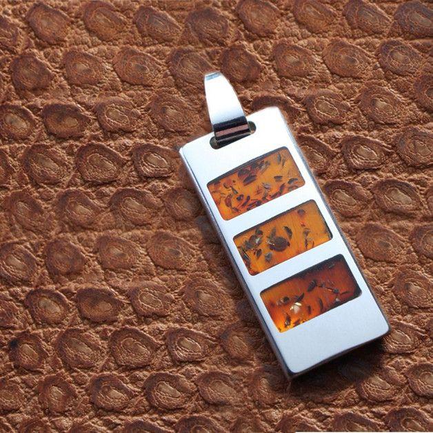 Weihnachtsgeschenke - USB stick gravur 64GB | Bernstein, Sterling Silber - ein Designerstück von ZaNa-Design bei DaWanda