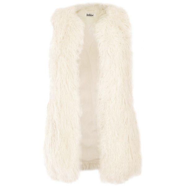 Jakke Anna Faux Fur Vest ($61) ❤ liked on Polyvore featuring outerwear, vests, jackets, coats, colete, pink vest, faux fur vest, vest waistcoat, faux fur waistcoat and pink faux fur vest
