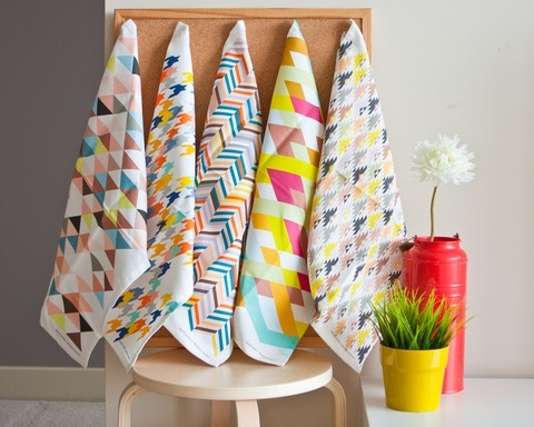 Happy Kitchen Tea Towels