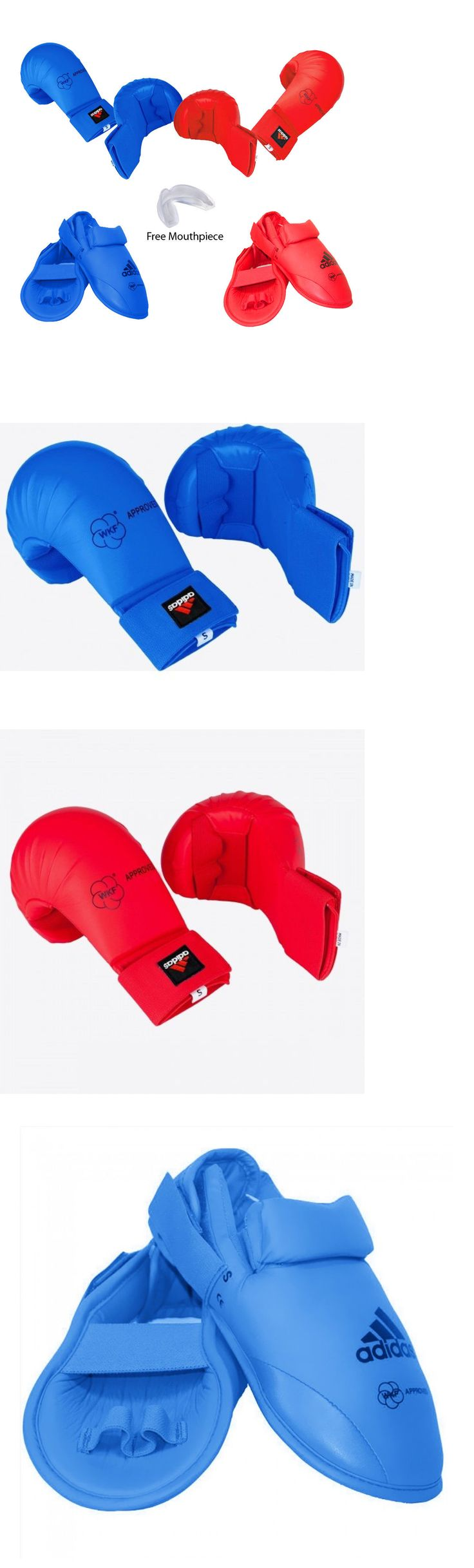 Other Combat Sport Protection 179783: New Adidas Karate Sparring Gear Basic Set Hand, Foot Guard And Mouthpiece-Red,Blue -> BUY IT NOW ONLY: $75.99 on eBay!