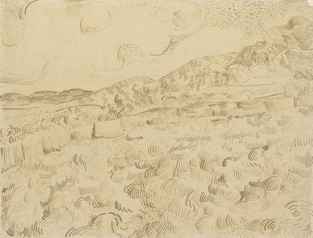 vincent van gogh 嵐の後の小麦畑 f1547 1889 ヴァンゴッホ ヴィンセント ヴァン ゴッホ 近代美術