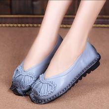 Весна женская обувь старинные натуральная кожа ручной работы женская обувь на плоской подошве удобные свободного покроя обувь весной и осенью обувь одного(China (Mainland))