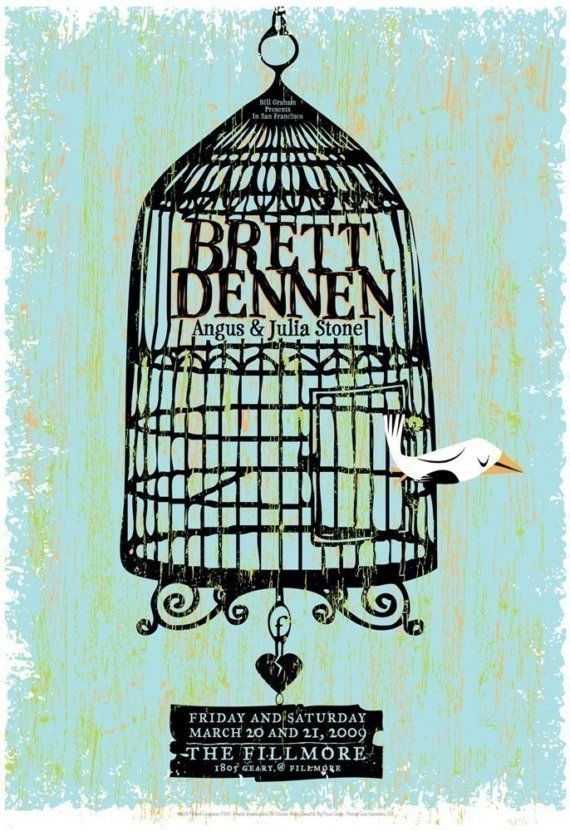 Brett Dennen with Angus and Julia Stone SF Fillmore rock poster - very limited edition - ALMOST sold out