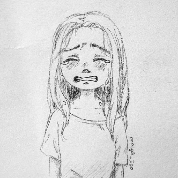 Ich will nur … ich will weinen. Ich will nur heulen. IG: maya_suu # picture # löffel #zeichnung #sadness #doodle #sketch girl weinen