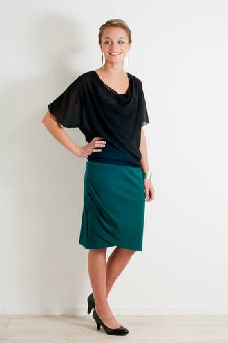 Radiant ruched skirt By www.chalkydigits.co.nz