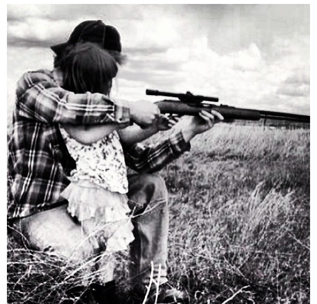 Daddy daughter shooting, I would go frog hunting, fishing, skeet shooting with my Daddy!