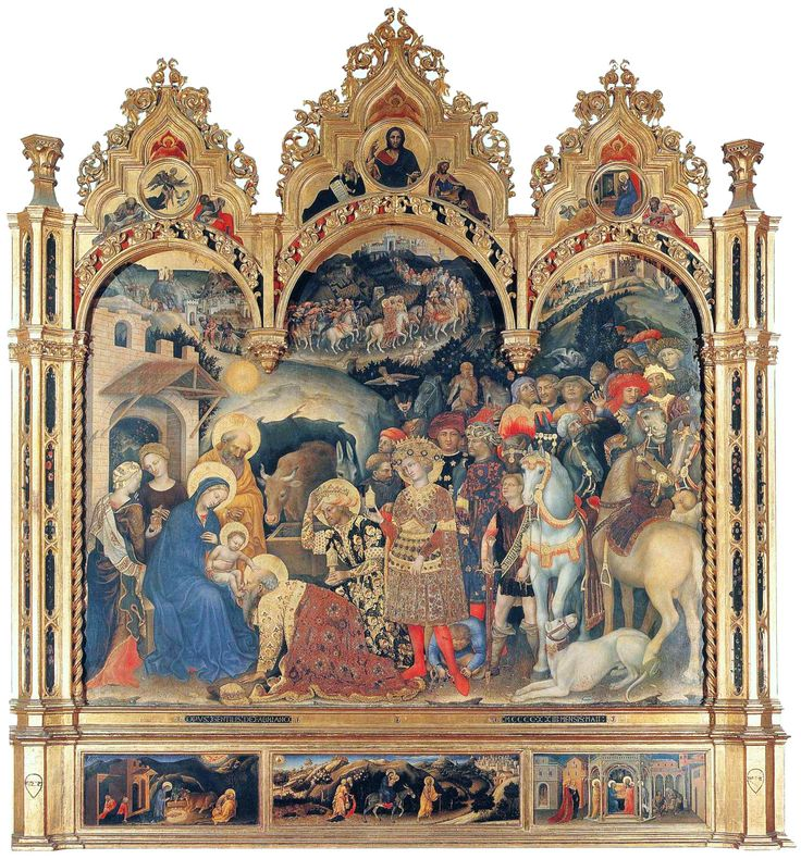 2. Adoración de los Reyes Magos Autor: Gentile da Fabriano Año: 1423 Técnica: Temple sobre madera Estilo: Gótico