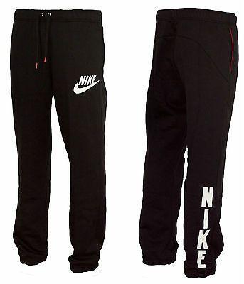 men nike black jogging pants
