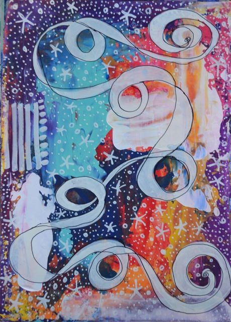 Doodling with Cathie at Art Journal Club! Class scheduled for Thursday, Oct. 30th, 2014