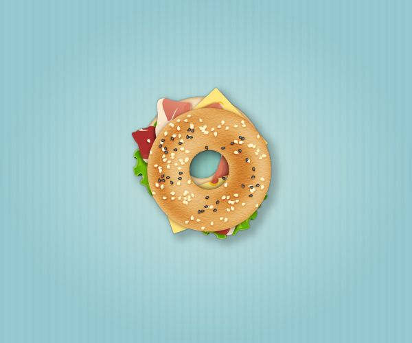How to Create a Delicious Bagel Sandwich Icon in Adobe Illustrator Tutorials Food Graphic Design Icon Illustration Illustrator Tutorial