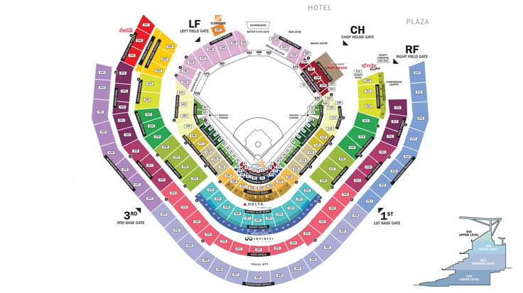 section_all.jpg (3000×1687) | Seating charts, Braves, Park ...