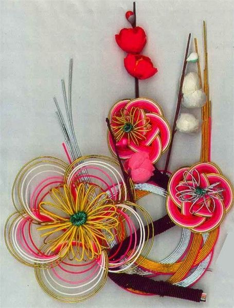 Beautiful Chinese knotting Art: Variation of Double Coin Knot, Japanese style, Mizuhiki