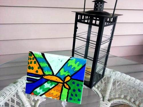 Children's Tile Art http://www.ravenswish.com/beinspired/artful-porch