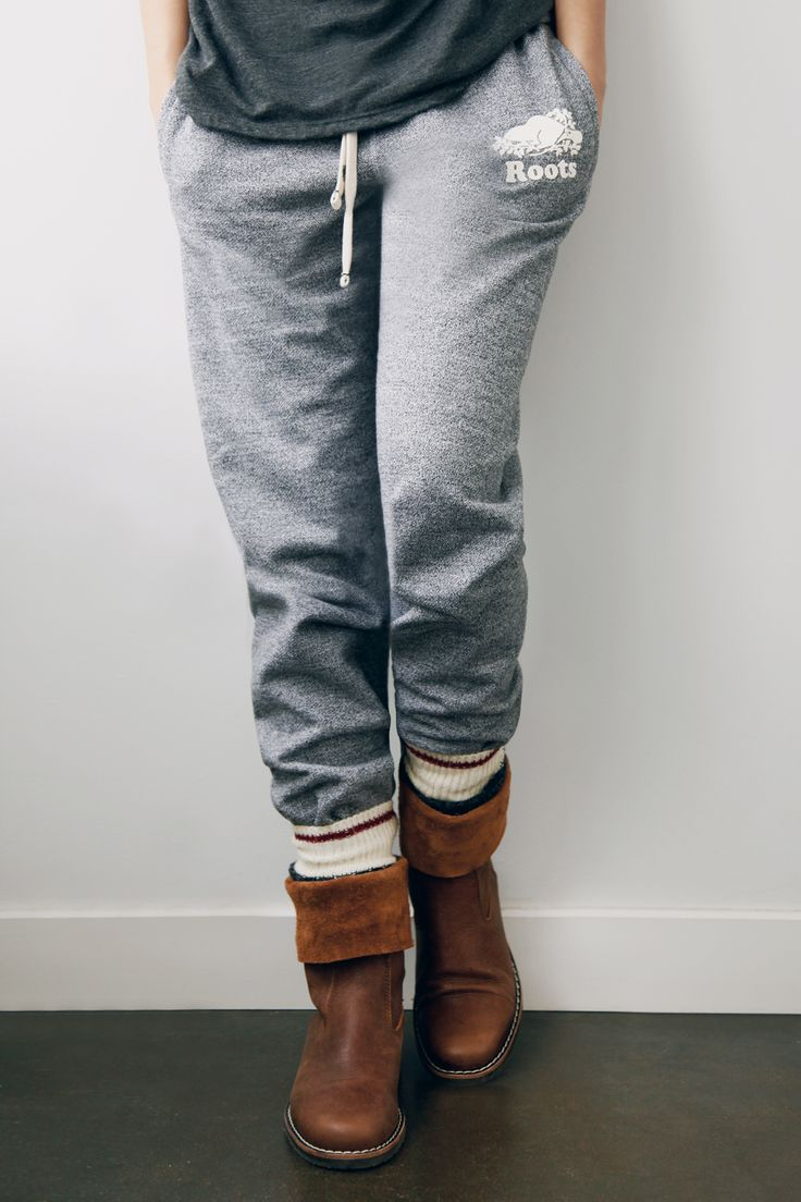 Salt and Pepper Sweatpants, Cabin Socks and Tribe Rollover Boots - Pretty much my go-to look