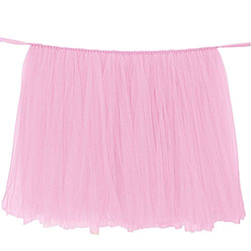 Check out this no-sew tulle table skirt, which creates a soft and dreamy feel to your party display. It's simple, inexpensive, and requires no sewing! It's basically a tutu for your table!
