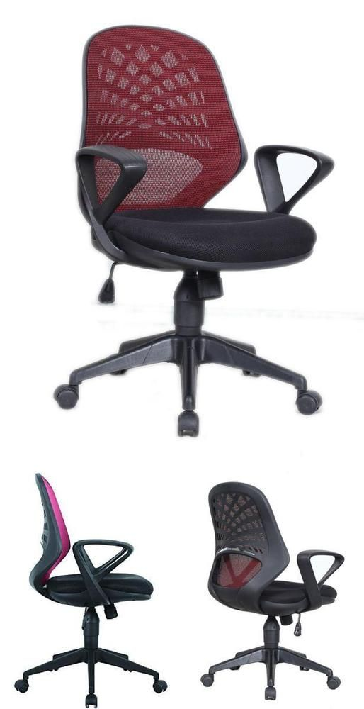 Mid-Back Mesh Chair Computer Red Desk Kids Study Office Student Task Swivel Home