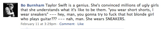 This is spot on when thinking of Taylor Swift.