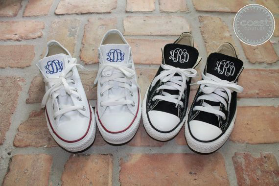 Monogram Converse by CoastCouture on Etsy