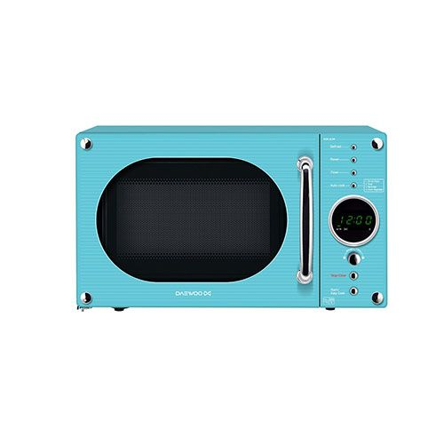 Aqua Blue Microwave Oven: Daewoo KOR6N9RT Turquoise Touch Control Microwave