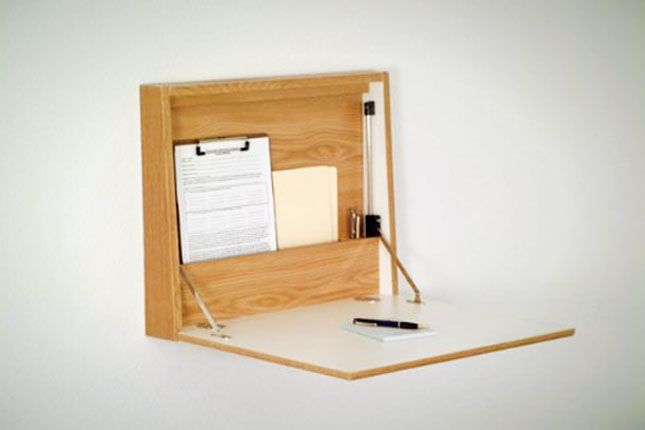 Space Saver: 22 Wall-Mounted Desks to Buy or DIY via Brit + Co.